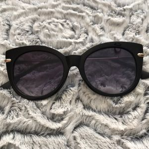 Black & Gold Fashion Cat Eye Sunglasses